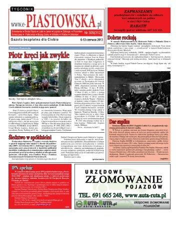 Tygodnik Piastowska Nr 305(312) 6-13.06.2013 r. - Gazeta ...