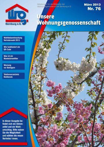 Nr. 76 - Wohnungsgenossenschaft Bernburg eG