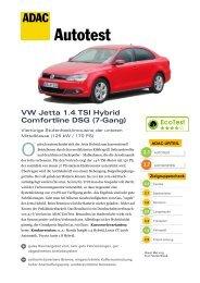 ADAC Autotest VW Jetta Hybrid PDF – 773 kB