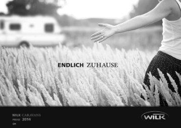 Preisliste Wilk Wohnwagen 2014 - bei Top Caravan