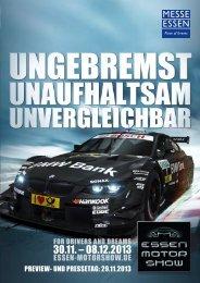 PREVIEW- UND PRESSETAG: 29.11.2013 - Essen Motor Show