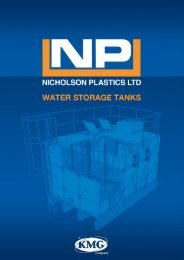 Cold water storage tank brochure - Nicholson Plastics Ltd