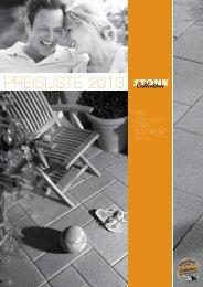 Download der Preisliste - Stone Collection