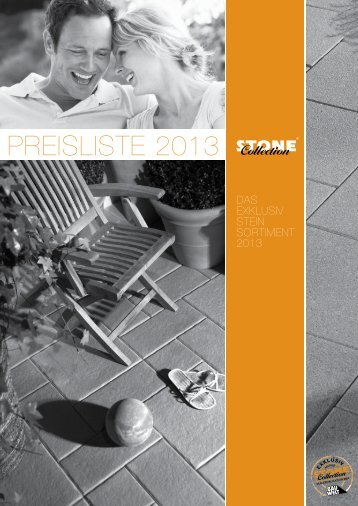 Download der Preisliste - Stone Collection