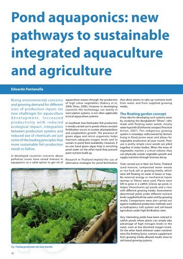 Pond aquaponics: new pathways to sustainable integrated ...