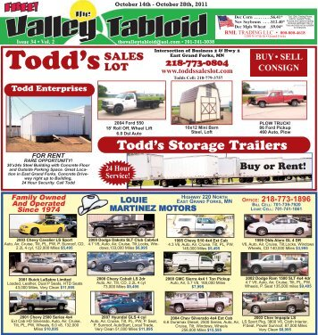 Issue 34 • Vol. 2 Thevalleytabloid@aol.com • 701