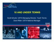 10 and Under Tennis for Facilities - Tennis Industry Association