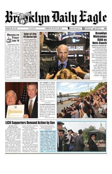 June 14 2013 Fri BDE.pdf - Brooklyn Daily Eagle