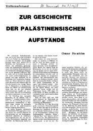 Zur Geschichte der palästinensischen Aufständen - Social History ...