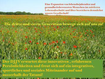 Konzept für Seniorensport im DJJV - Deutscher Ju-Jutsu Verband e.V.