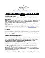 View DARC Coed Softball Rules - Downingtown Area Recreation ...
