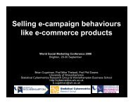 Selling e-campaign behaviours like e-commerce products - The ...