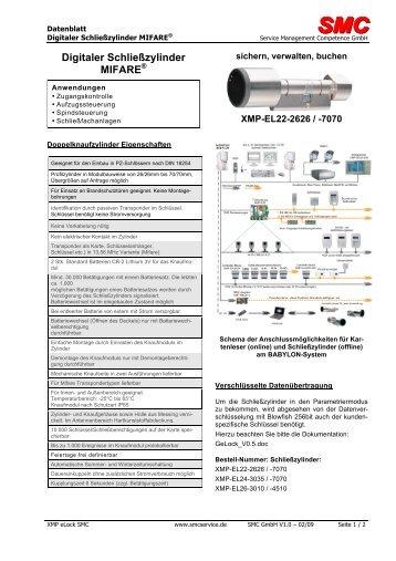 Digitaler Schließzylinder MIFARE - SMC - Service Management ...