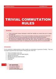 TRIVIAL COMMUTATION RULES - Legal & General