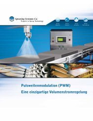 Pulsweitenmodulation (PWM) - Spraying Systems Co.