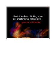 i think if we keep thinking about our feelings we ... - Get a Free Blog