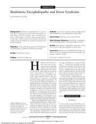 Hashimoto Encephalopathy and Down Syndrome - AMA Publishing ...