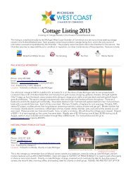 Cottage Listing 2013 - Holland Area Chamber of Commerce