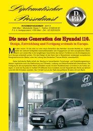 Die neue Generation des Hyundai i10. - Diplomatischer Pressedienst