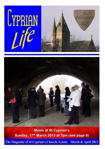 March and April 2013 issue - St Cyprian's Church