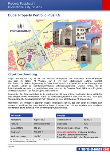 Dubai Property Portfolio Plus KG - GeldWelt.de