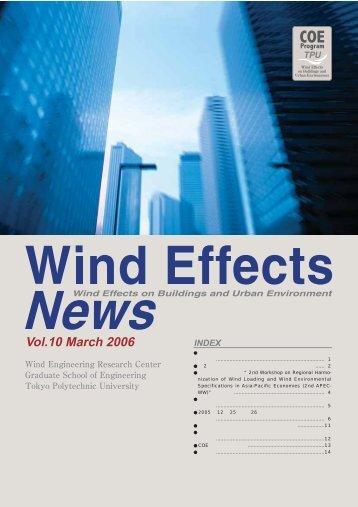 Vol.10 March 2006 - 風工学・教育研究のニューフロンティア - 東京工芸 ...