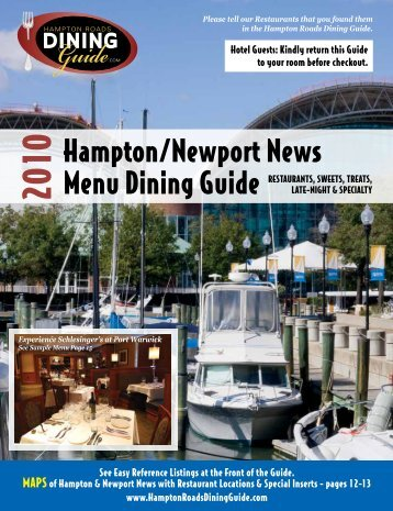 Hampton/Newport News Menu Dining Guide - Hampton Roads ...