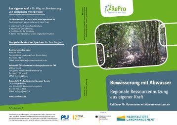 Bewässerung mit Abwasser - RePro - Ressourcen vom Land