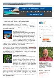 10 Birdwatching Honeymoon Destinations | 10 ... - Inkaterra