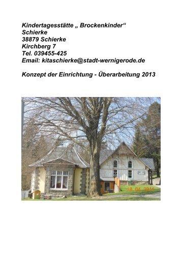 """Kindertagesstätte """" Brockenkinder"""" Schierke 38879 ... - Wernigerode"""