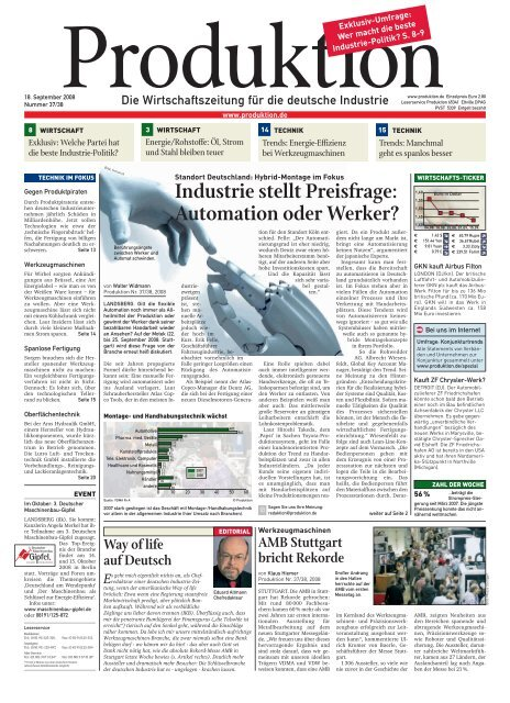 """""""Besser statt billiger"""" Bündnis90/Die Grünen - Produktion.de"""