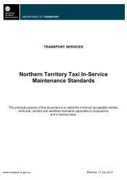Taxi Requirements and In-service Maintenance Standard