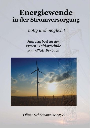 3.3 Vollversorgung durch erneuerbare Energien - ZolarEnergy.net