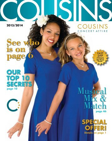 See who is on page 6 Musical Mix & Match - Cousins Concert Attire