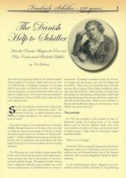 The Danish Help to Schiller (PDF) - schillerinstitut.dk