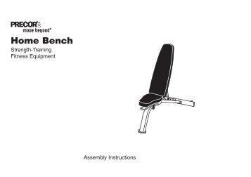 Multi-angle Bench Owner's Manual - Precor