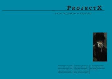 Ausgabe Nr.3 - projectX - Blogsport