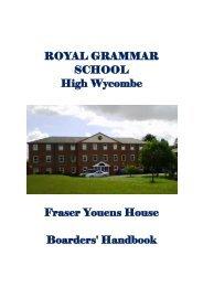 Boys Handbook - Royal Grammar School