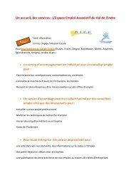 Un accueil, des services : L'Espace Emploi Associatif du ... - Storage