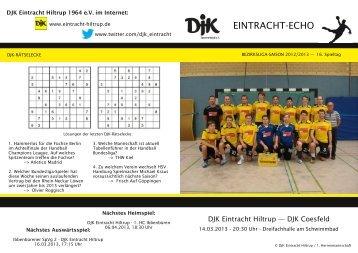 Ausgabe 8: 16. Spieltag, Saison 2012/2013 - DJK Eintracht Hiltrup