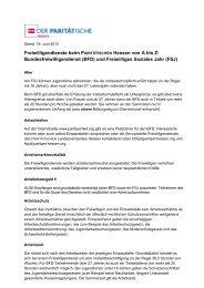 A bis Z zum BFD - Freiwilligendienst des Paritätischen Hessen