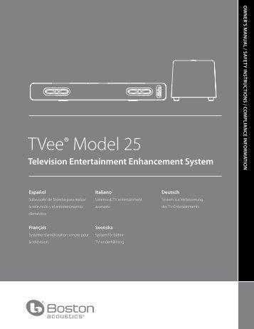 TVee® Model 25 - Boston Acoustics