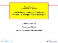 Folien zur Ringvorlesung - Fachbereich Physik der Universität ...