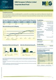 M&G European Inflation Linked Corporate Bond ... - M&G Investments