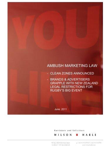 AMBUSH MARKETING LAW - Wilson Harle