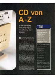Cambridge Audio Azur 840C Audio 05/2007 - taurus high-end gmbh