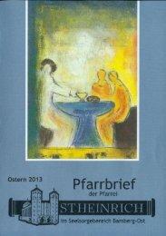 Pfarrbrief I/2013 - St. Heinrich Bamberg