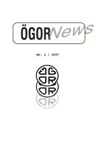 ÖGOR News Nr. 2/2007 - Österreichische Gesellschaft für ...