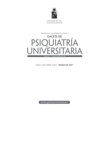 Año 3, Vol. 3 - Nº 1 Marzo - Gaceta de Psiquiatría Universitaria