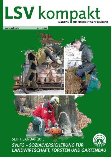 LSV kompakt 1/2013 - Sozialversicherung für Landwirtschaft ...